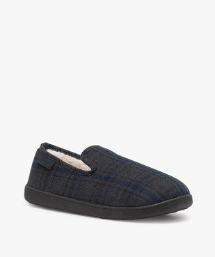 Chaussons homme pantoufles en velours - Isotoner Dessus tissu à carreaux tartan vue2 - ISOTONER - Nikesneakers
