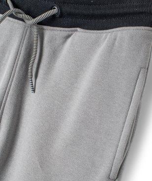 Pantalon de sport garçon en molleton à poches latérales vue5 - GEMO (ENFANT) - GEMO