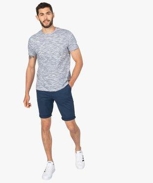 Tee-shirt homme à manches courtes et rayures vue5 - GEMO (HOMME) - GEMO