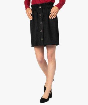 Jupe femme avec taille froncée et boutons fantaisie sur l'avant vue1 - Nikesneakers(FEMME PAP) - Nikesneakers