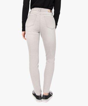 Jean femme en stretch coupe Skinny taille haute vue3 - GEMO(FEMME PAP) - GEMO