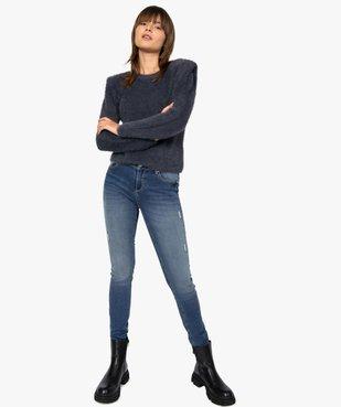 Jean femme coupe Slim aspect usé vue5 - GEMO(FEMME PAP) - GEMO
