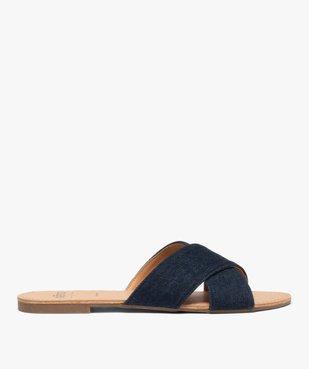 Sandales femme à larges brides croisées souples dessus denim vue1 - GEMO (CASUAL) - GEMO