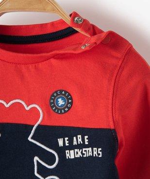 Tee-shirt bébé garçon tricolore – Lulu Castagnette vue2 - LULUCASTAGNETTE - GEMO