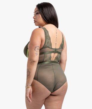 Body femme en tulle et dentelle - Gémo x Lalaa Misaki vue3 - GEMO(HOMWR FEM) - GEMO