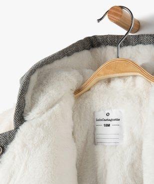 Manteau bébé fille avec écharpe douce - Lulu Castagnette vue3 - LULUCASTAGNETTE - GEMO
