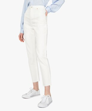 Jean femme coupe Regular taille haute longueur 7/8ème vue1 - GEMO(FEMME PAP) - GEMO
