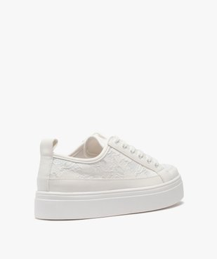 Tennis femme unies à lacets dessus dentelle vue4 - Nikesneakers (SPORTSWR) - Nikesneakers