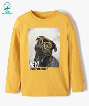 Tee-shirt garçon à manches longues avec motif floqué vue1 - GEMO C4G GARCON - GEMO