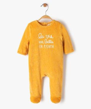 Pyjama bébé en velours avec message vue1 - Nikesneakers(BB COUCHE) - Nikesneakers
