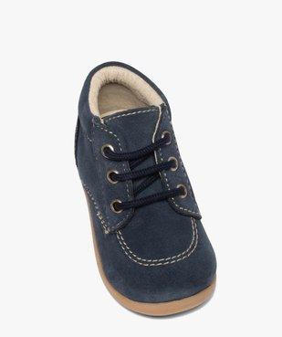 Chaussures premiers pas bébé garçon unies en cuir vue5 - GEMO(BEBE DEBT) - GEMO