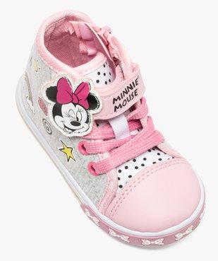 Baskets montantes bébé fille en toile fermeture scratch Minnie vue5 - MINNIE - GEMO