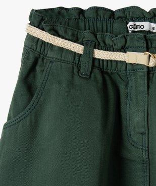 Jupe fille large à taille froncée et ceinture pailletée vue2 - GEMO (ENFANT) - GEMO