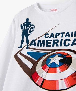 Tee-shirt garçon à manches longues imprimé Captain America - Marvel vue2 - MARVEL DTR - GEMO