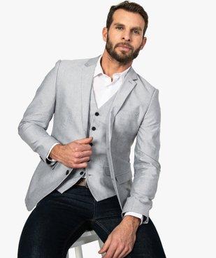 Veste de costume homme avec coudières contrastantes vue1 - GEMO (HOMME) - GEMO