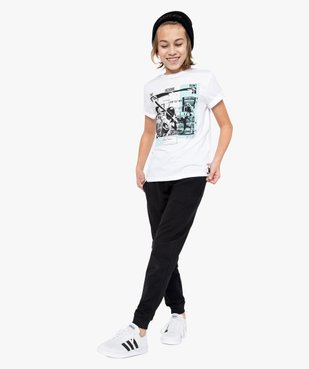 Pantalon de jogging garçon avec intérieur molletonné vue1 - GEMO (JUNIOR) - GEMO