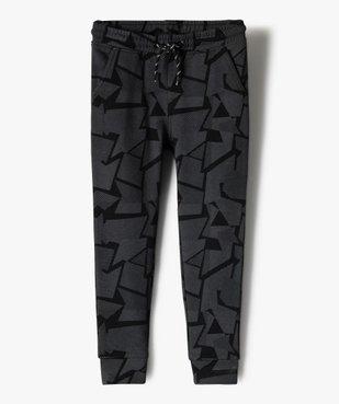 Pantalon de jogging garçon à motifs graphiques vue1 - GEMO (ENFANT) - GEMO