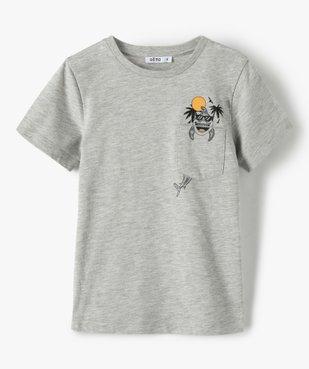 Tee-shirt garçon avec poche poitrine avec motif vue1 - GEMO (ENFANT) - GEMO