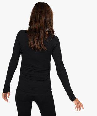 Tee-shirt de grossesse à manches longues vue3 - GEMO C4G MATERN - GEMO