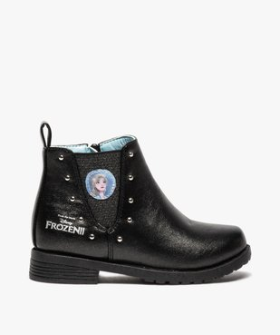 Boots fille zippés détails cloutés – La Reine des Neiges vue1 - REINE DES NEIGE - GEMO