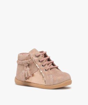 Chaussures premiers pas bébé fille irisées vue2 - Nikesneakers(BEBE DEBT) - Nikesneakers