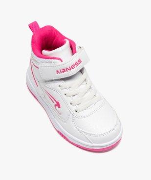 Baskets fille semi-montantes à lacets et scratch - Airness vue5 - AIRNESS - GEMO