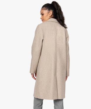 Manteau femme mi-long à col tailleur et fermeture 1 bouton vue3 - GEMO(FEMME PAP) - GEMO