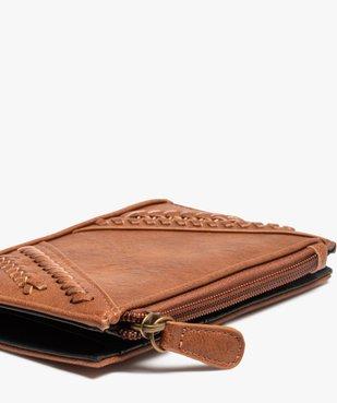 Portefeuille femme petit format à tresses vue2 - Nikesneakers (ACCESS) - Nikesneakers