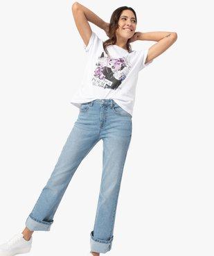 Tee-shirt femme avec motif positif vue5 - GEMO(FEMME PAP) - GEMO