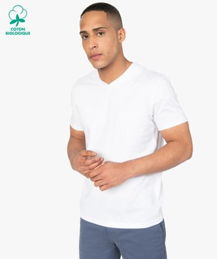 Tee-shirt homme à manches courtes et col V vue1 - GEMO C4G HOMME - GEMO