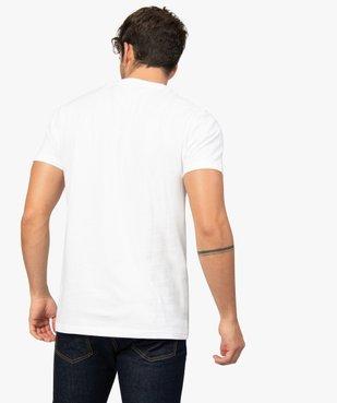 Tee-shirt homme avec inscription contrastante sur l'avant vue3 - GEMO (HOMME) - GEMO