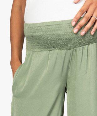 Pantalon de grossesse ample et fluide à taille smockée vue2 - GEMO (MATER) - GEMO