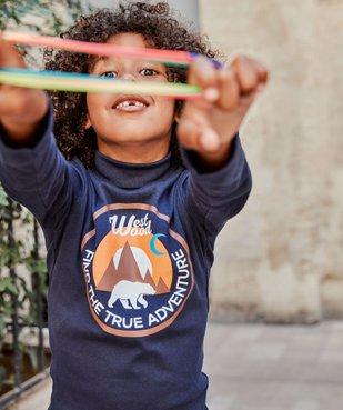 Tee-shirt garçon imprimé à manches longues et col montant vue1 - Nikesneakers (ENFANT) - Nikesneakers