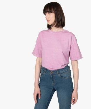 Tee-shirt femme à manches courtes coupe ample vue1 - GEMO(FEMME PAP) - GEMO