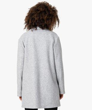 Manteau court femme en matière extensible chinée vue3 - GEMO(FEMME PAP) - GEMO