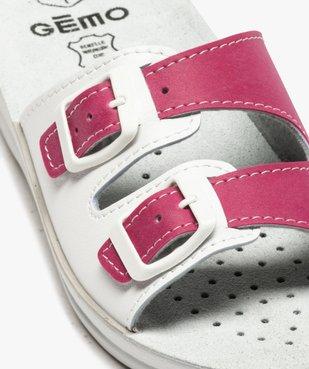 Mules femme confort fermeture double bride à boucle vue6 - GEMO (CONFORT) - GEMO
