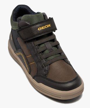 Baskets garçon mid-cut à lacets et scratch - Geox vue5 - GEOX - GEMO