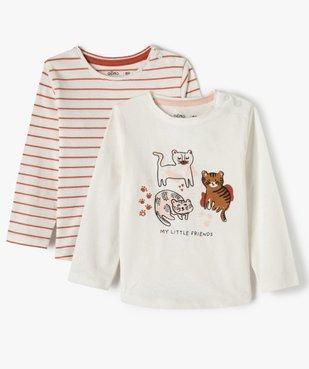 Tee-shirt bébé fille à manches longues (lot de 2) vue1 - Nikesneakers(BEBE DEBT) - Nikesneakers