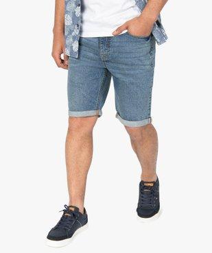 Bermuda homme en jean avec ceinture - Roadsign vue1 - ROADSIGN - GEMO
