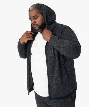 Sweat homme zippé à capuche et poches zippées vue1 - GEMO (G TAILLE) - GEMO