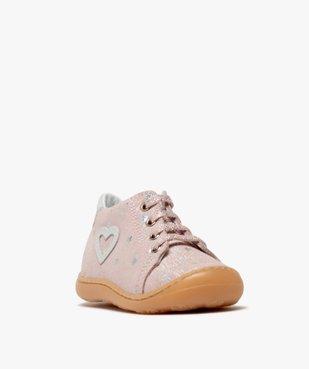 Chaussures premiers pas bébé fille en cuir vue2 - Nikesneakers(BEBE DEBT) - Nikesneakers