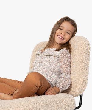 Chemise fille à motifs fleuris et rayures brillantes vue1 - GEMO (ENFANT) - GEMO