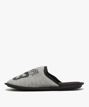 Chaussons homme mules plates en jersey – Camps United vue3 - CAMPS UNITED - GEMO