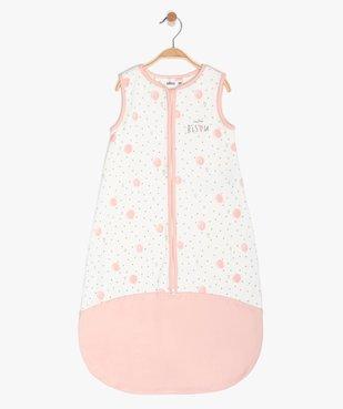 Gigoteuse bébé fille avec petits points et cœurs  vue1 - GEMO(BB COUCHE) - GEMO