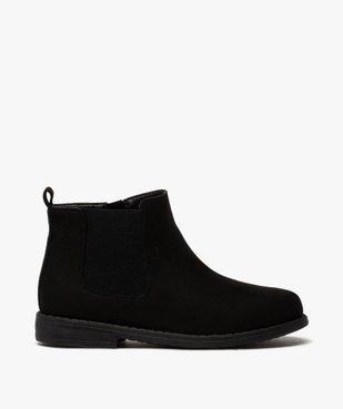 Boots fille style chelsea en suédine unie vue1 - Nikesneakers (ENFANT) - Nikesneakers