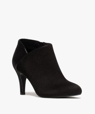 Low-boots femme dessus suédine et bordures passepoil vue2 - GEMO(URBAIN) - GEMO
