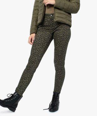 Pantalon femme coupe slim à motifs léopard vue1 - GEMO(FEMME PAP) - GEMO