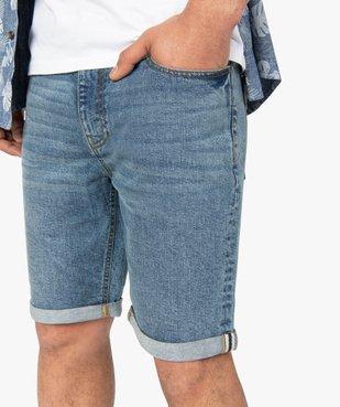 Bermuda homme en jean avec ceinture - Roadsign vue2 - ROADSIGN - GEMO