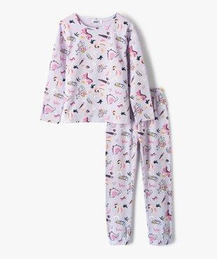 Pyjama fille avec motifs dinosaures vue1 - GEMO (ENFANT) - GEMO