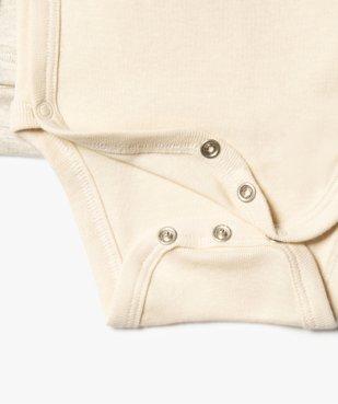 Body bébé à manches longues et fermeture croisée (lot de 3) vue2 - GEMO C4G BEBE - GEMO